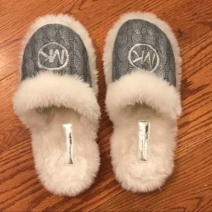 NWOT Michael Kors Slippers, Gray
